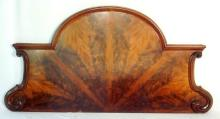 Victorian Mahogany Sideboard Back/Bed Headboard. 19thc. Height 32 in. Width 63 in.