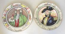 Royal Dolton Series Ware Plate The Admiral D6278 and The Squire D6284. Diameter 10 3/8 in. 26.3cm. (2 Items)