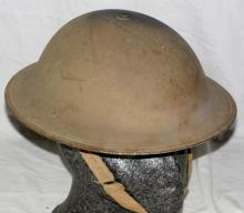 WWII UK Army Original Early World War 2 Mk2  British Tommy Steel Helmet