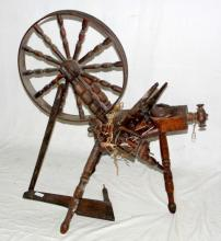 Early 19thc  Welsh Antique Spinning Wheel for  Restoration.