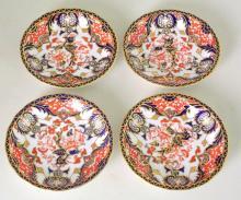Antique Royal Crown Derby Imari Pattern Saucers c.1901-02. Factory Marks to Base. Diameter 13cm