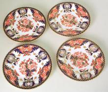 Antique Royal Crown Derby Imari Pattern Side Plates x4 c.1888. Factory Marks to Base. 15.5cm