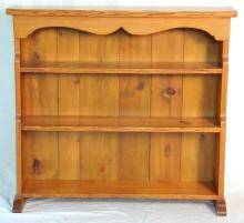Vintage Pitch Pine Open Book Shelf. 20thc. Height 34 in. Width 37.5 in. Depth 23in.