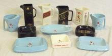Wade Collection of Johnnie Walker Old Scotch Whisky Water Jugs and Ashtrays. (12 Items)