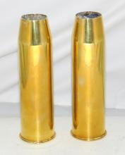 WW11 Brass 37mm M16 Shell Cases  1942-43.  Height  18.5 cm.  (2 Items)
