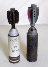 Military 2 inch Mortars to Include: Scarce  WW2 dated 1940-1 [FD Ltd]  Z and 2 IN M, ILL,  MK 2/2, P1. (2 Items)