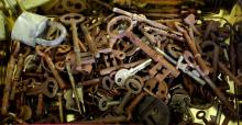 Collection of Antique Keys.
