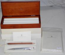 Graf von Faber-Castell Classic Mechanical  Sterling Silver Pencil .925. Silver Tipped  Pencil and Notebook. Complete with wooden  case,outer card boxes,Instructions and   dustbags.(3 Items)