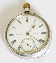 Antique Solid Silver Pocket Watch JB Yabsley  London Top Winding. Circa 1911. Not Working.