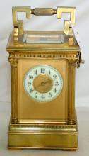 Good Late Victorian 8 Day Carriage Clock in  the