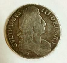 Great Britain. William III 1696 Silver Crown. OCTAVO.. Fine.  28.8 gm.