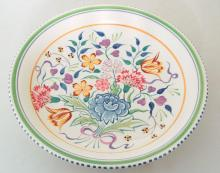 Poole Pottery Wall Charger in Floral Decoration. Diameter 33cm