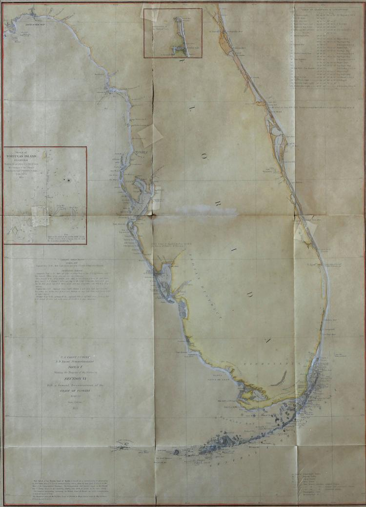 Florida Lithograph Map