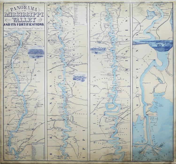 Civil War Era Map Of The Mississippi Valley