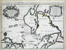 Jaillot Map of Canada and Hudson Bay