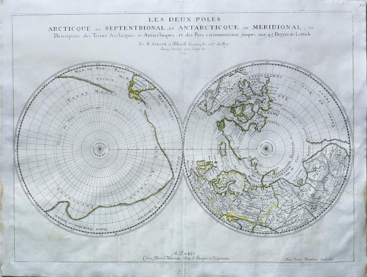 Sanson Polar Projection Map of the World