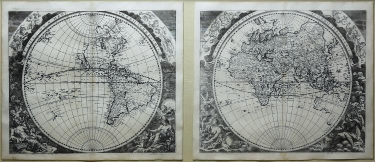 Johann Zahn Map of the World