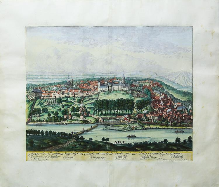 Beautiful engraving of the City of Kleve, Germany