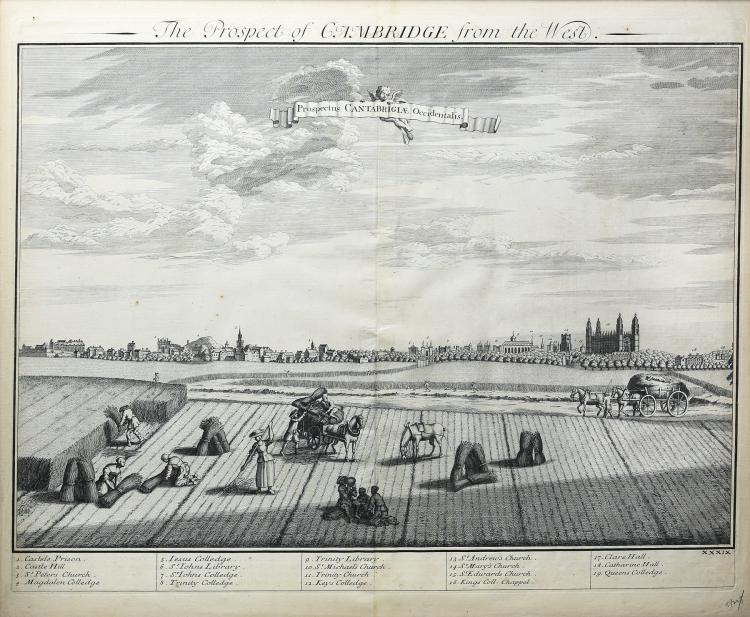 A very fine and quite large view of Cambridge seen from the west