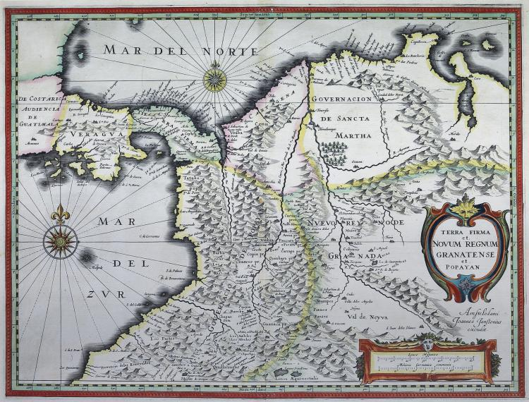 Janssonius Map of Northwest South America