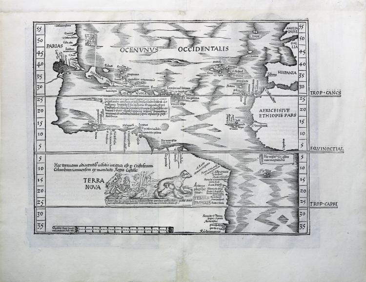 The Admiral's Map after Waldseemuller, showing New World