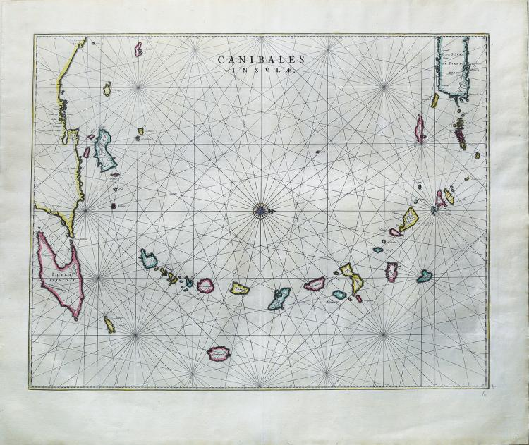First Dutch map to focus on the Lesser Antilles