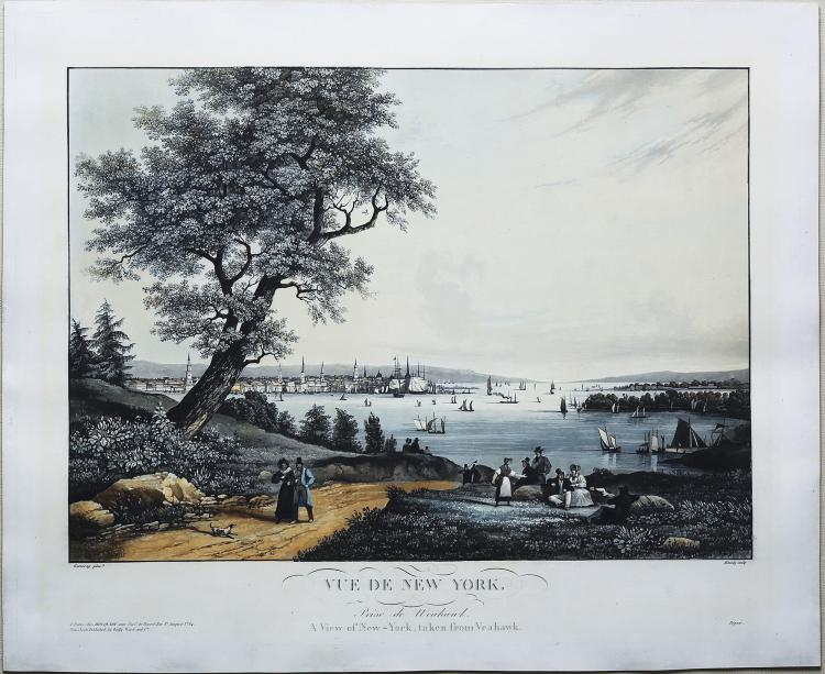 Beautiful early view of New York from New Jersey