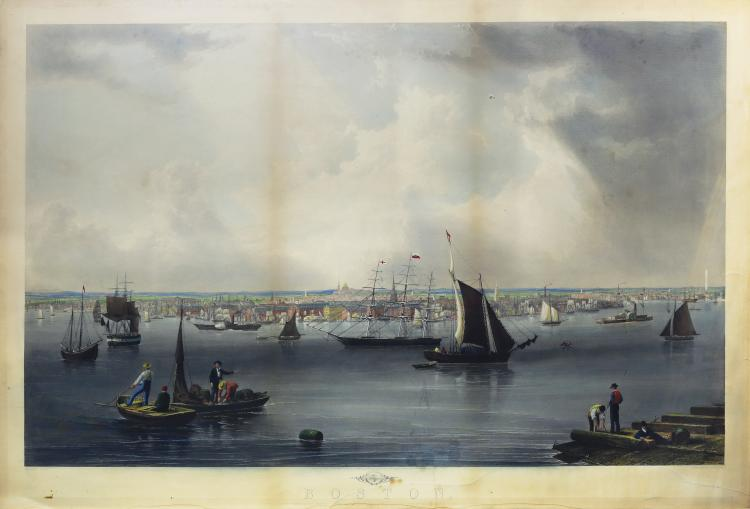 Great Mid-19th Century view of Boston Harbor
