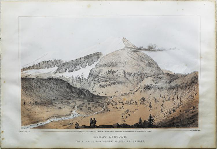 A.E. Mathews View of Mount Lincoln in Colorado