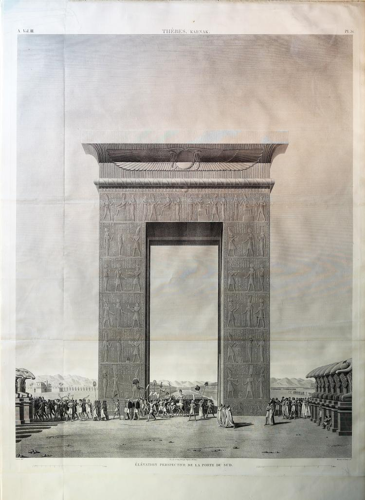 18th century View of the Ruins of Thebes, Egypt