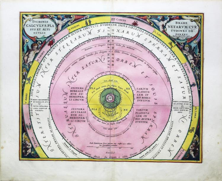 Colorful Celestial Charts by Andreas Cellarius