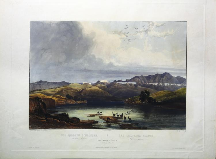 Hand-colored Karl Bodmer Engraving
