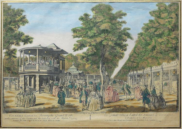 John Miller Engraving of Vauxhall Gardens