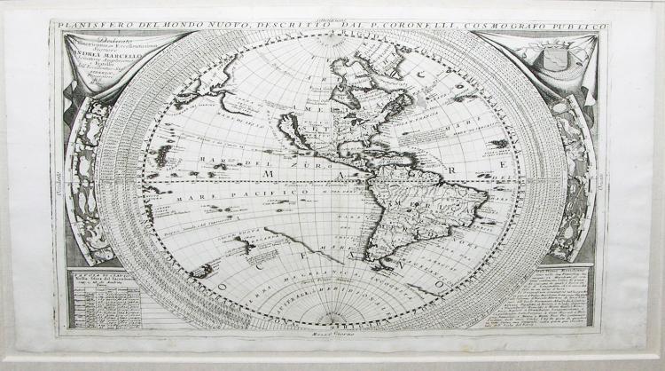 Planisfero del Mondo Nuovo,  Descritto