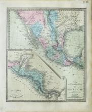 Important map by Burr showing Mexico three years before Texas Indepencance