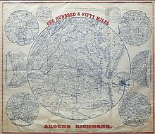 Popular Civil War Era Map of the Capital of the Confederacy, Richmond, VA