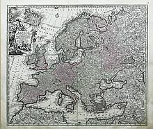 Detailed Map of Europe by Seutter