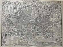 One of the most accurate 16th Century plans of Paris