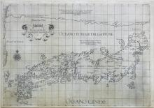 Dudley, First state of this rare sea chart of Japan