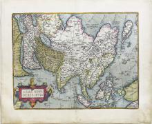 Ortelius, Asia, Spanish Edition