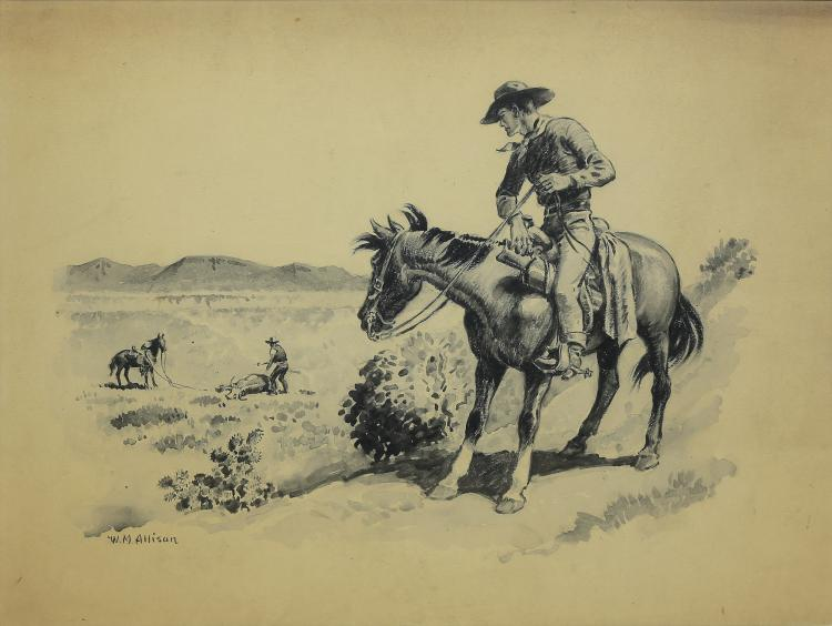 William Allison drawing The Rustler
