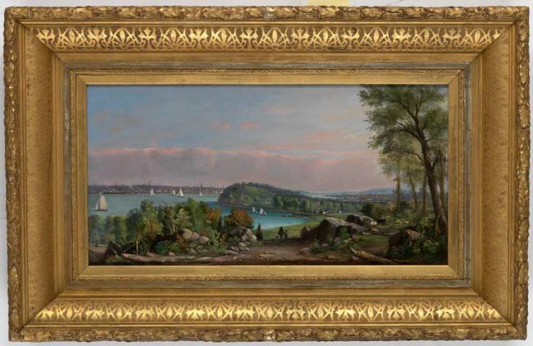 Thomas Whitley, View of New York City from Hoboken, New Jersey.
