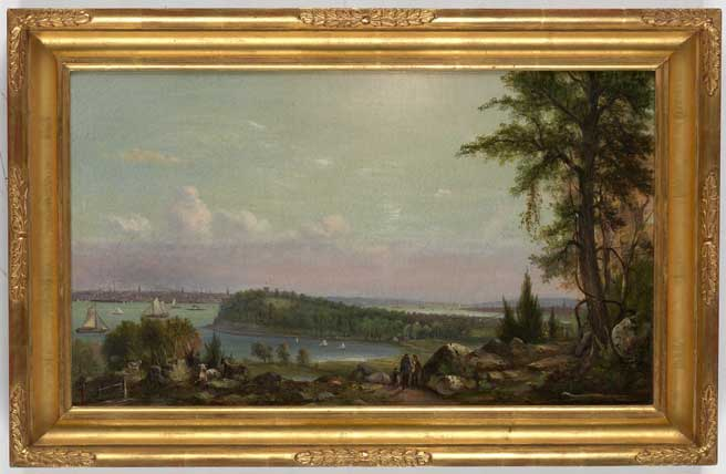 Thomas Whitley, View of Manhattan from Weehawken.