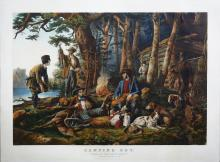 Currier & Ives Camping Out
