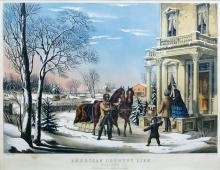 Currier & Ives American Country Life Pleasures of Winter