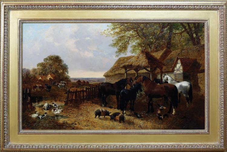 Herring Stable Yard Oil Painting