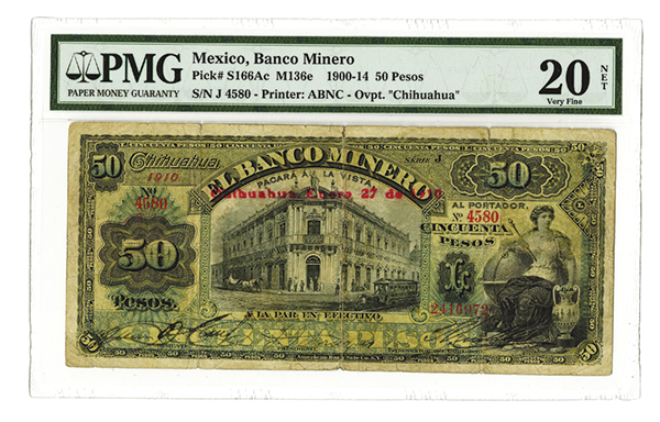 banco minero 1900 1914 issued banknote. Black Bedroom Furniture Sets. Home Design Ideas