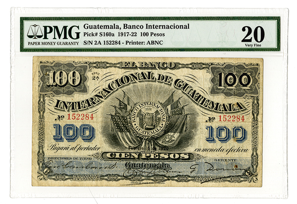 internacional de guatemala 1920 issued banknote. Black Bedroom Furniture Sets. Home Design Ideas