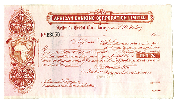 letter of credit south africa banking corporation limited 19xx ca 1900