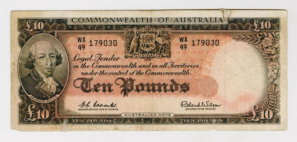 Commonwealth of Australia - Reserve Bank, ND (1960-65) Issued Banknote.